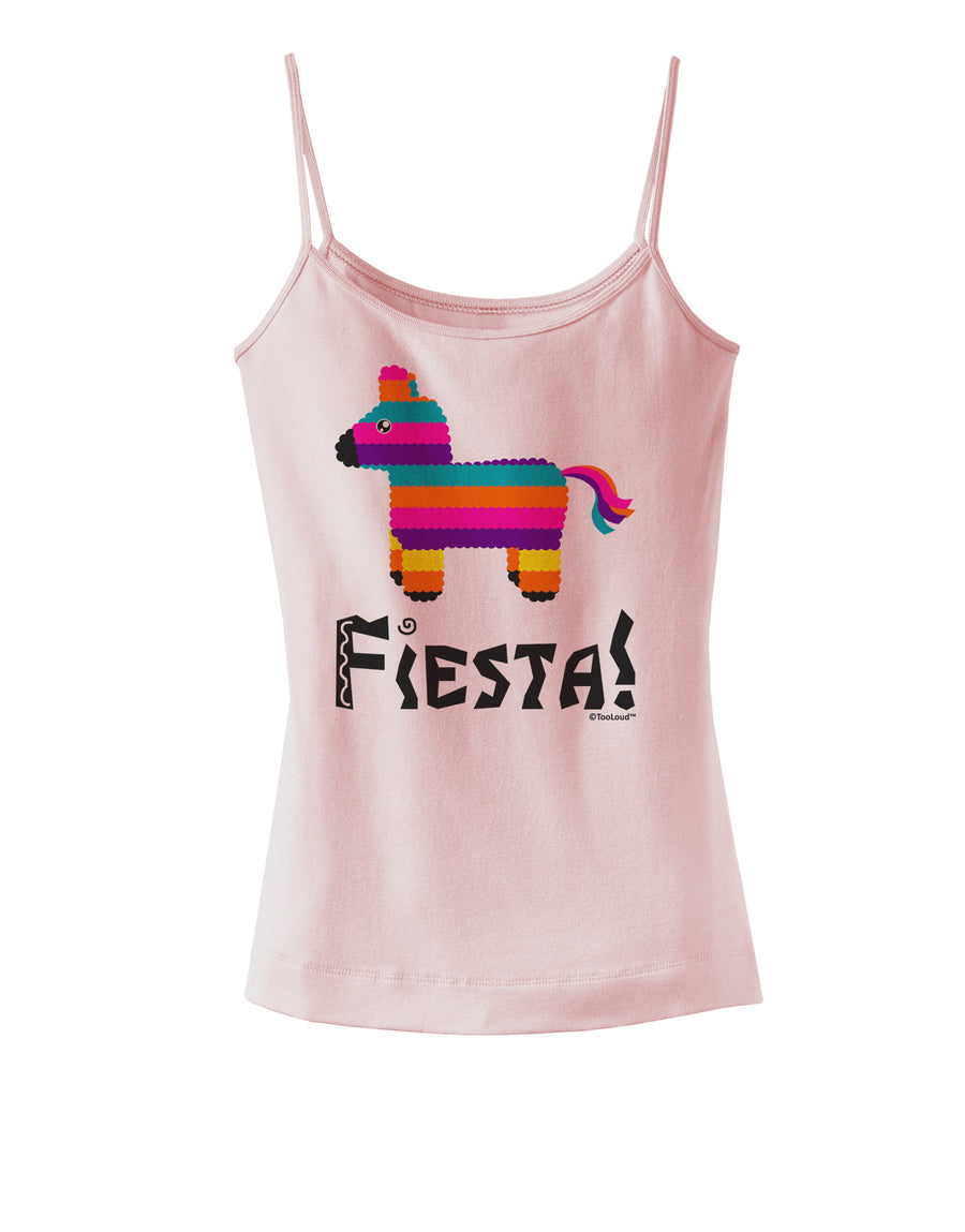 Colorful Pinata Design - Fiesta Spaghetti Strap Tank  by TooLoud