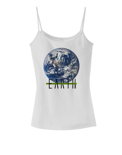 Planet Earth Text Spaghetti Strap Tank