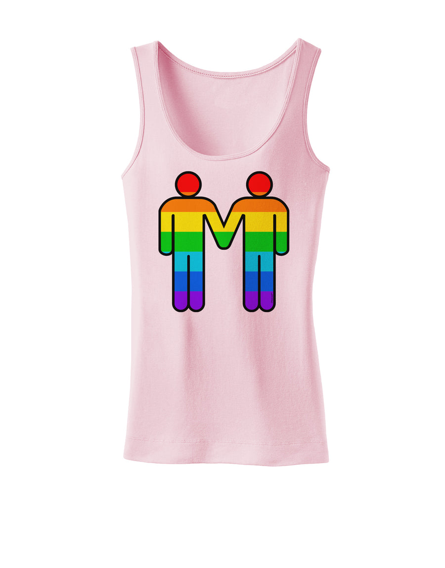 Rainbow Gay Men Holding Hands Womens Tank Top