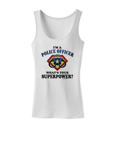 Police Officer - Superpower Womens Petite Tank Top