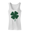 Lucky Four Leaf Clover St Patricks Day Womens Tank Top