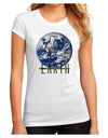 Planet Earth Text Juniors Petite Sublimate Tee