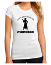 Don't Mess With The Princess Juniors Petite Sublimate Tee