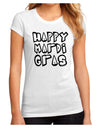 Happy Mardi Gras Text 2 BnW Juniors Petite Sublimate Tee