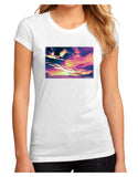 Blue Mesa Reservoir Surreal Juniors Petite Sublimate Tee