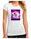 Astronaut Cat Juniors Petite Sublimate Tee