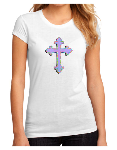 Easter Color Cross Juniors Petite Sublimate Tee