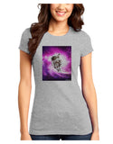 Astronaut Cat Juniors Petite T-Shirt
