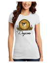 Doge Coins Juniors Petite T-Shirt White 4XL Tooloud