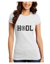 HODL Bitcoin Juniors Petite T-Shirt White 4XL Tooloud