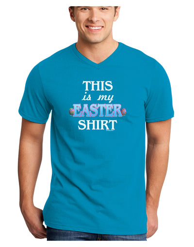 This Is My Easter Shirt Adult Dark V-Neck T-Shirt