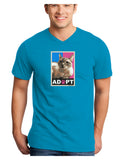 Adopt Cute Kitty Poster Adult Dark V-Neck T-Shirt