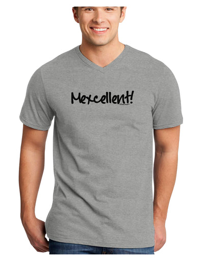 Mexico Text - Cinco De Mayo Adult V-Neck T-shirt