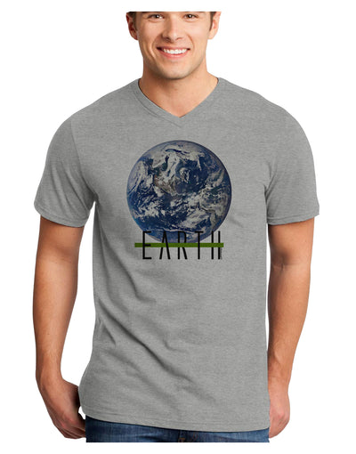 Planet Earth Text Adult V-Neck T-shirt