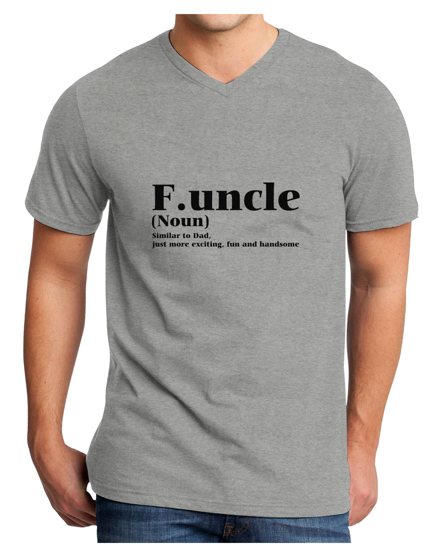 Funcle - Fun Uncle Adult V-Neck T-shirt by TooLoud