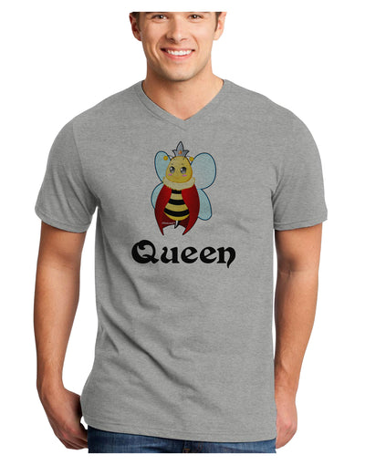 Queen Bee Text 2 Adult V-Neck T-shirt