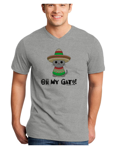 Oh My Gato - Cinco De Mayo Adult V-Neck T-shirt