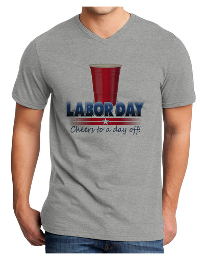 Labor Day - Cheers Adult V-Neck T-shirt