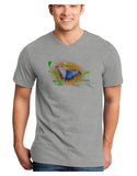 Blue Watercolor Butterfly Adult V-Neck T-shirt