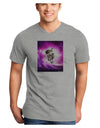 Astronaut Cat Adult V-Neck T-shirt