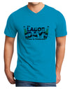 Labor Day - Celebrate Adult V-Neck T-shirt