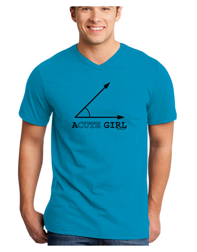 Acute Girl Adult V-Neck T-shirt