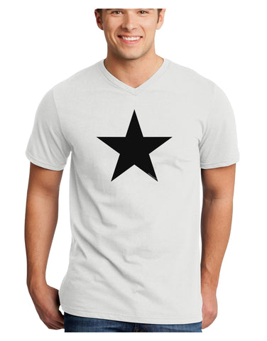 Black Star Adult V-Neck T-shirt