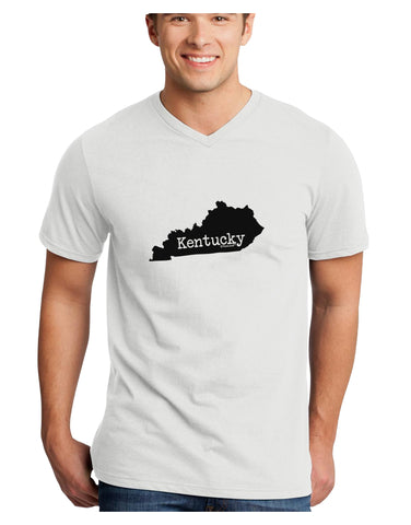 Kentucky - United States Shape Adult V-Neck T-shirt by TooLoud