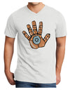 Cardano Hero Hand Adult V-Neck T-shirt White 4XL Tooloud