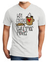Hot Cocoa and Christmas Movies Adult V-Neck T-shirt White 4XL Tooloud