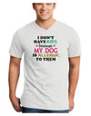 I Don't Have Kids - Dog Adult V-Neck T-shirt