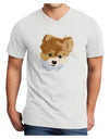 Custom Pet Art Adult V-Neck T-shirt by TooLoud