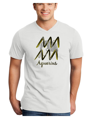 Aquarius Symbol Adult V-Neck T-shirt