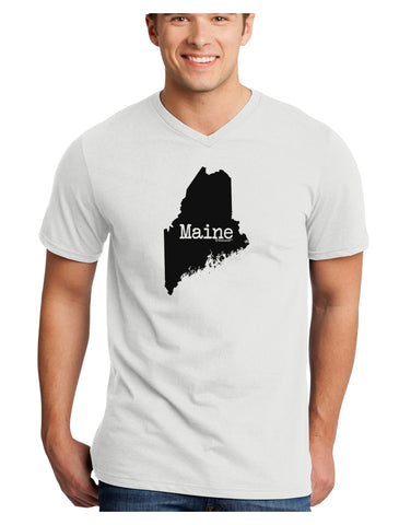 Maine - United States Shape Adult V-Neck T-shirt by TooLoud