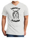 Beware of Thotweiler Adult V-Neck T-shirt - White - 4XL Tooloud