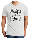 Thankful for you Adult V-Neck T-shirt White 4XL Tooloud