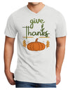 Give Thanks Adult V-Neck T-shirt White 4XL Tooloud