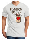Eggnog Me Adult V-Neck T-shirt White 4XL Tooloud