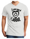 I Love You 3000 Adult V-Neck T-shirt - White - 4XL Tooloud