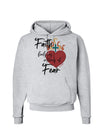Faith Fuels us in Times of Fear  Hoodie Sweatshirt Ash Gray 3XL Toolou