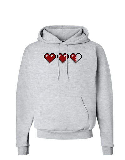 Couples Pixel Heart Life Bar - Left Hoodie Sweatshirt  by TooLoud