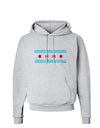 Distressed Chicago Flag Design Hoodie Sweatshirt  by TooLoud