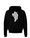 Single Right Angel Wing Design - Couples Dark Hoodie Sweatshirt