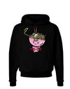 Matching Pho Eva Pink Pho Bowl Dark Hoodie Sweatshirt Black 3XL Toolou