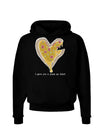 I gave you a Pizza my Heart Dark Dark Hoodie Sweatshirt Black 3XL Tool