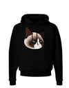 Cute Disgruntled Siamese Cat Dark Hoodie Sweatshirt by