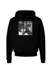 TooLoud White Wolf Face Dark Hoodie Sweatshirt