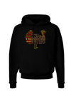 Turkey Typography Dark Hoodie Sweatshirt