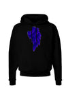 Single Right Dark Angel Wing Design - Couples Dark Hoodie Sweatshirt