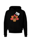 Thanksgiving Turkey in Disguise Dark Hoodie Sweatshirt by TooLoud